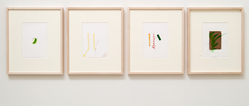 Richard Tuttle / Untitled  2012 4 parts each 17.7 x 12.6 cm pencil, colored pencil, watercolor, gouache on paper