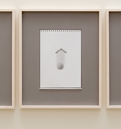 Richard Tuttle / 18 Drawings for Village IV Untitled, No. 7  2004  paper: 24 x 17 cm / pp: 39.7 x 32.7  cm pencil on paper