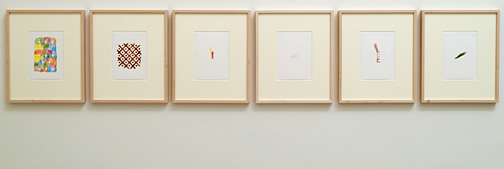 Richard Tuttle / Heart (1–6)  2011-2012 6 parts each 17.7 x 12.6 cm pencil, colored pencil, watercolor on paper