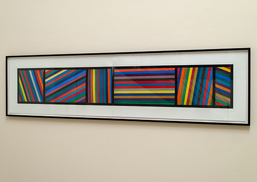 Sol LeWitt / Sol LeWitt Bands of Lines in Different Directions  1996  50.8 x 210.8 cm color aquatint (two parts) Ed. 24/36